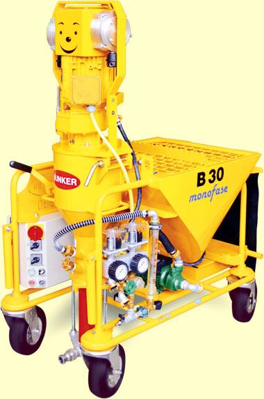 single-phase plastering machine
